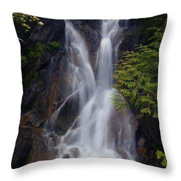 Split Top Falls Throw Pillow by Mike  Dawson