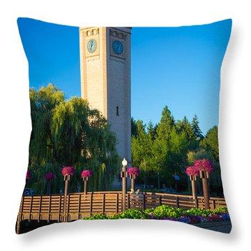 Spokane Clocktower Throw Pillow