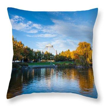 Spokane Reflections Throw Pillow