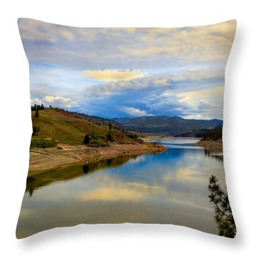Spokane River Throw Pillow by Robert Bales