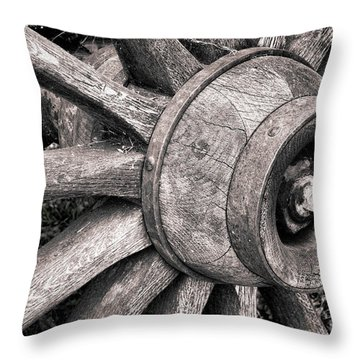 Spokes And Axle Throw Pillow by Olivier Le Queinec
