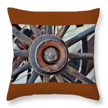 Spokes And Hub Throw Pillow