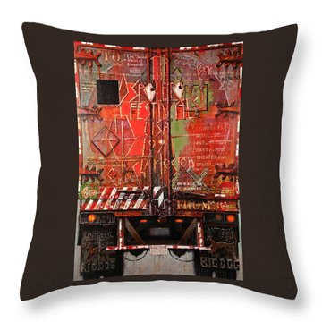Spoleto Truck Throw Pillow by Blue Sky