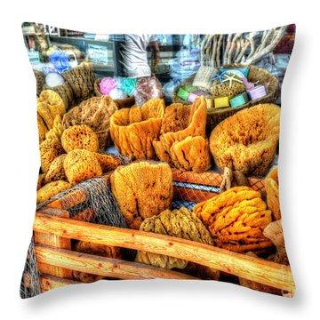 Sponge Worthy Throw Pillow by Debbi Granruth