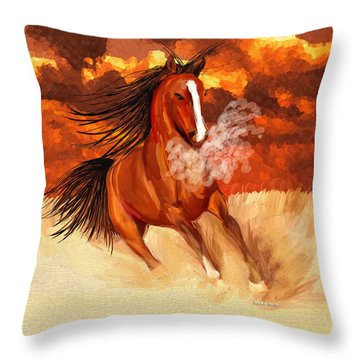 Spooked By The Storm Throw Pillow by Angela A Stanton