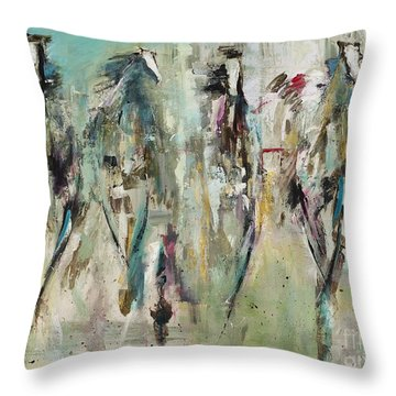 Spooked Throw Pillow