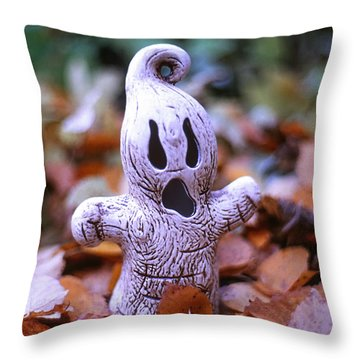 Throw Pillow featuring the photograph Spooky Autumn by Aaron Aldrich