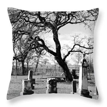 Spooky Cemetary  Throw Pillow