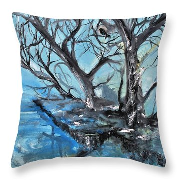 Spooky Mood Throw Pillow by Evelina Popilian