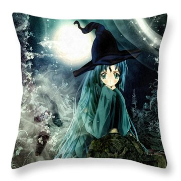 Spooky Night Throw Pillow by Mo T