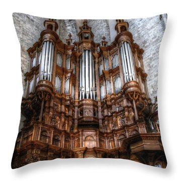 Spooky Organ Throw Pillow