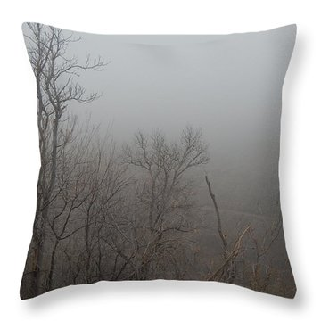 Spooky Scary Trees Throw Pillow