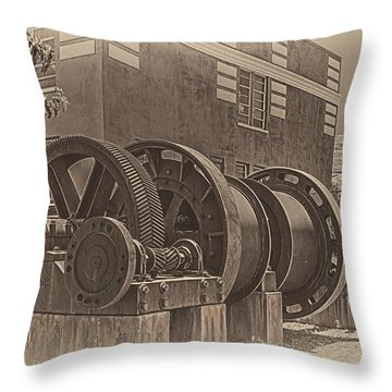 Spools And Gears Throw Pillow