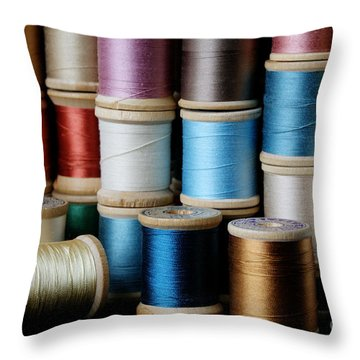 Spools  Throw Pillow