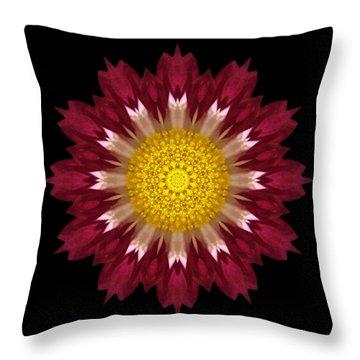 Spoon Chrysanthemum I Flower Mandala Throw Pillow by David J Bookbinder