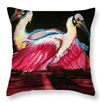 Throw Pillow featuring the painting Spoon Dance Sold by Lil Taylor
