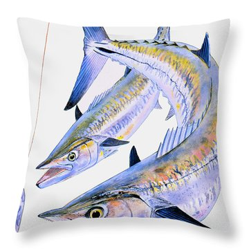 Spoon King Throw Pillow by Carey Chen