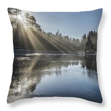 Spoon Of Morning Light Throw Pillow by Jon Glaser