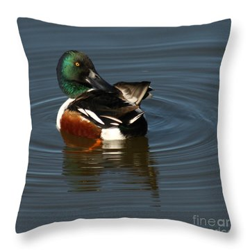 Throw Pillow featuring the photograph Spooney by Bob and Jan Shriner