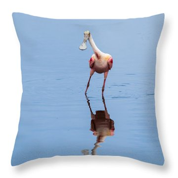 Throw Pillow featuring the photograph Spoonie Striking A Pose by John M Bailey