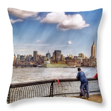 Sport - Fishing Throw Pillow by Mike Savad