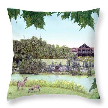 Sporting Clays At Seven Springs Mountain Resort Throw Pillow by Albert Puskaric
