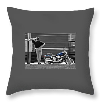 Sportster Calling Throw Pillow
