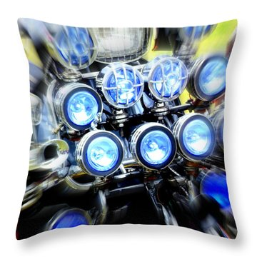 Spotlight Frenzy Throw Pillow