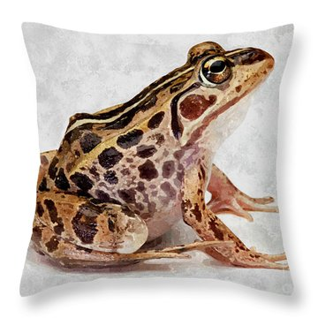 Spotted Dart Frog Throw Pillow by Lanjee Chee