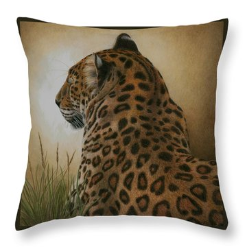 Spotted Elegance Throw Pillow by Pat Erickson