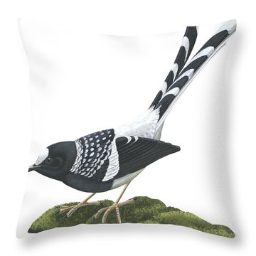 Spotted Forktail Throw Pillow by Anonymous