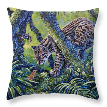 Spotted Throw Pillow by Gail Butler
