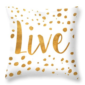 Spotted Gold II Throw Pillow