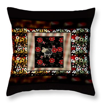Spotted Throw Pillow by Sherry Flaker