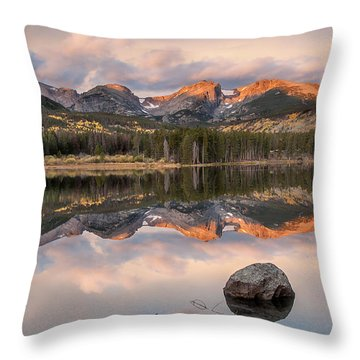 Sprague Lake Sunrise 2 Throw Pillow by Lee Kirchhevel