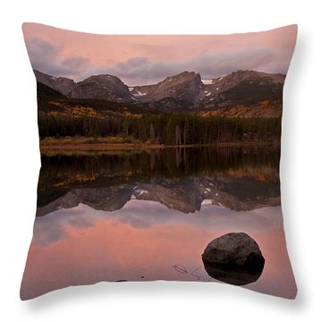 Sprague Lake Sunrise Throw Pillow