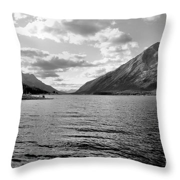 Spray Lake Throw Pillow