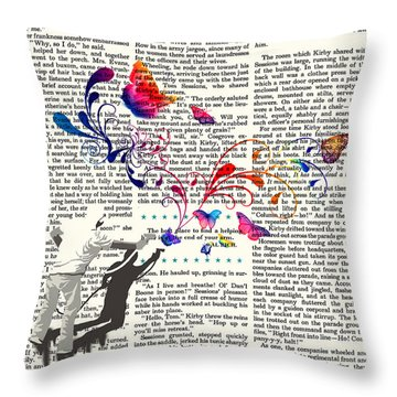 Spray Natura Graffiti Art Print Throw Pillow