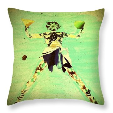Spread Eagle Throw Pillow by Jacqueline McReynolds
