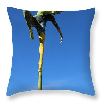 Spread Wings Photographed Outside Throw Pillow by Adam Long