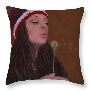 Spreading The Seeds Throw Pillow by Barbara St Jean