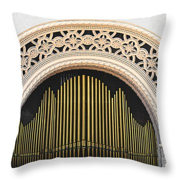 Spreckels Organ Balboa Park San Diego Throw Pillow by Christine Till