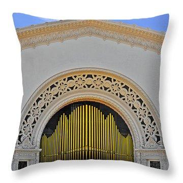 Spreckles Organ San Diego Throw Pillow by Christine Till