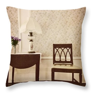 Sprig Of Lilacs Throw Pillow by Margie Hurwich