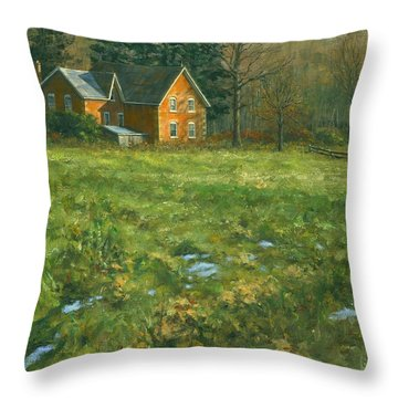 Throw Pillow featuring the painting Spring by Michael Swanson