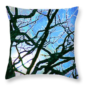 Spring Approaches Throw Pillow by First Star Art