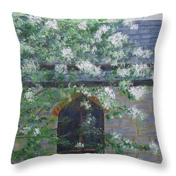 Spring At Grace Church Throw Pillow