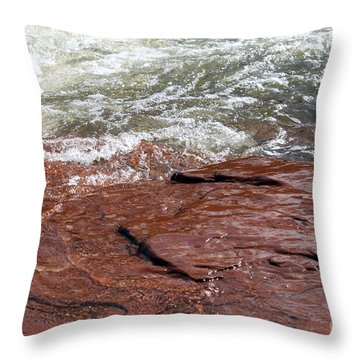 Spring At Sedona In Spring Throw Pillow by Debbie Hart