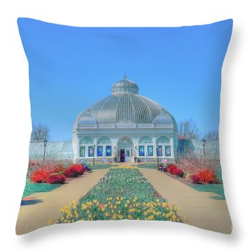Spring At The Gardens Throw Pillow by Kathleen Struckle