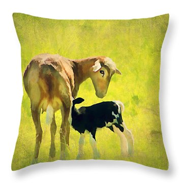 Spring Baby Throw Pillow by Darren Fisher